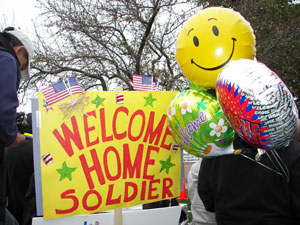 WELCOME HOME BRAVE TROOPS!